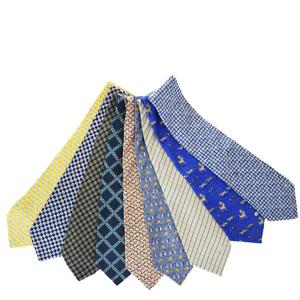 ダンヒル(Dunhill) 9セット ネクタイ シルク ブルー,グリーン,ピンク,パープル,イエロー