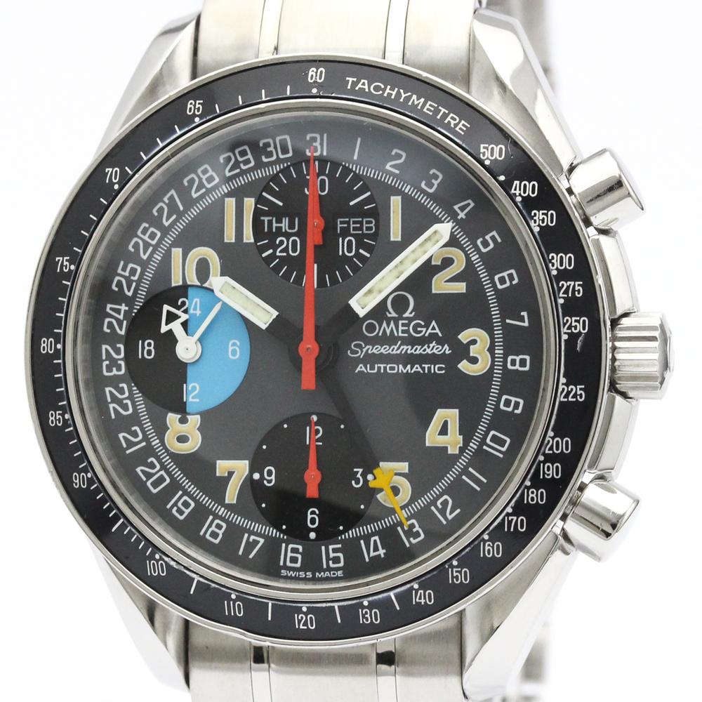 【OMEGA】オメガ スピードマスター マーク40 AM/PM ステンレススチール 自動巻き メンズ 時計 3520.53