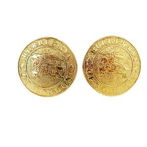 Burberry Metal Stud Earrings Gold