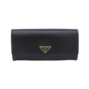 プラダ(Prada) Saffiano 1MH132 レディース パテントレザー 長財布(二つ折り) ブラック