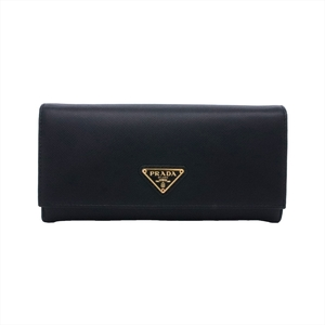 プラダ(Prada) Saffiano 1MH132 QHH F0002 レディース サフィアーノトライアングル 長財布(二つ折り) Nero(ネロ)