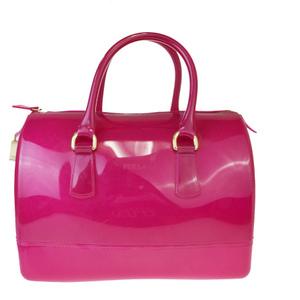 フルラ(Furla) キャンディ ラバー ハンドバッグ ピンク