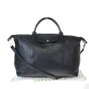 ロンシャン(Longchamp) ル・プリアージュ 2WAY レザー ハンドバッグ ブラック