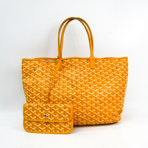 Goyard Saint Louis PM Women's Canvas,Leather Tote Bag Yellow