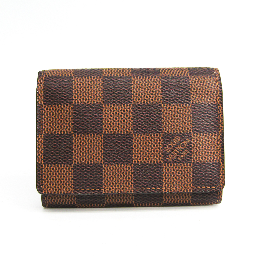 Louis Vuitton Damier Damier Canvas Business Card Case Ebene N62920 Business Card Case