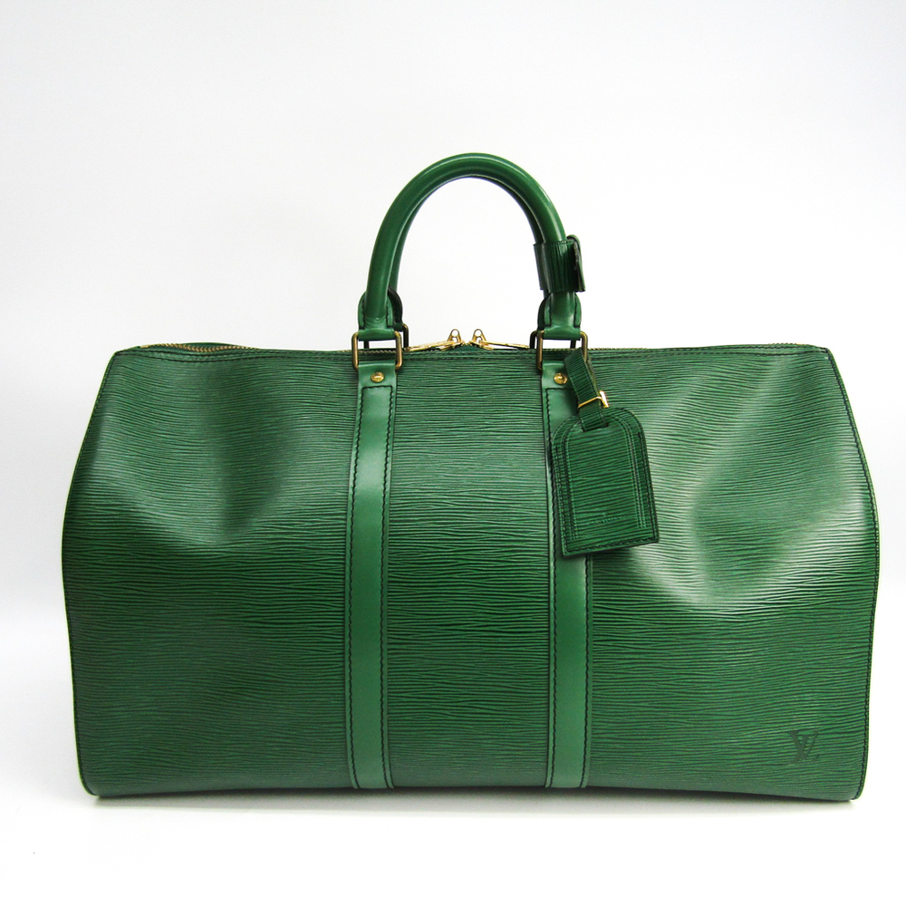 Louis Vuitton Epi Keepall 45 M42974 Boston Bag Green