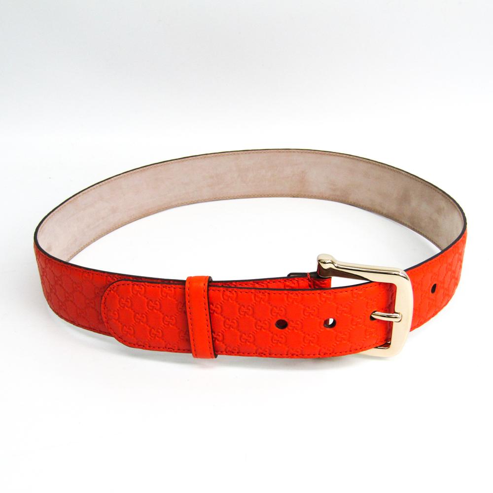 Gucci Guccissima 281548 Unisex Leather Belt Orange 80