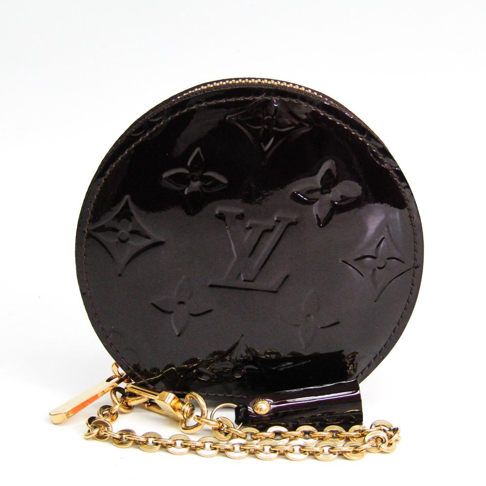 Louis Vuitton Vernis Portomonet Shapo M91413 Women's Vernis Coin Purse/coin Case Amarante