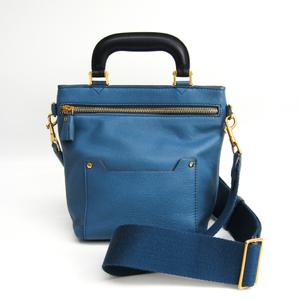 アニヤ・ハインドマーチ(Anya Hindmarch) Mini Orsett レディース レザー ハンドバッグ,ショルダーバッグ ブルー