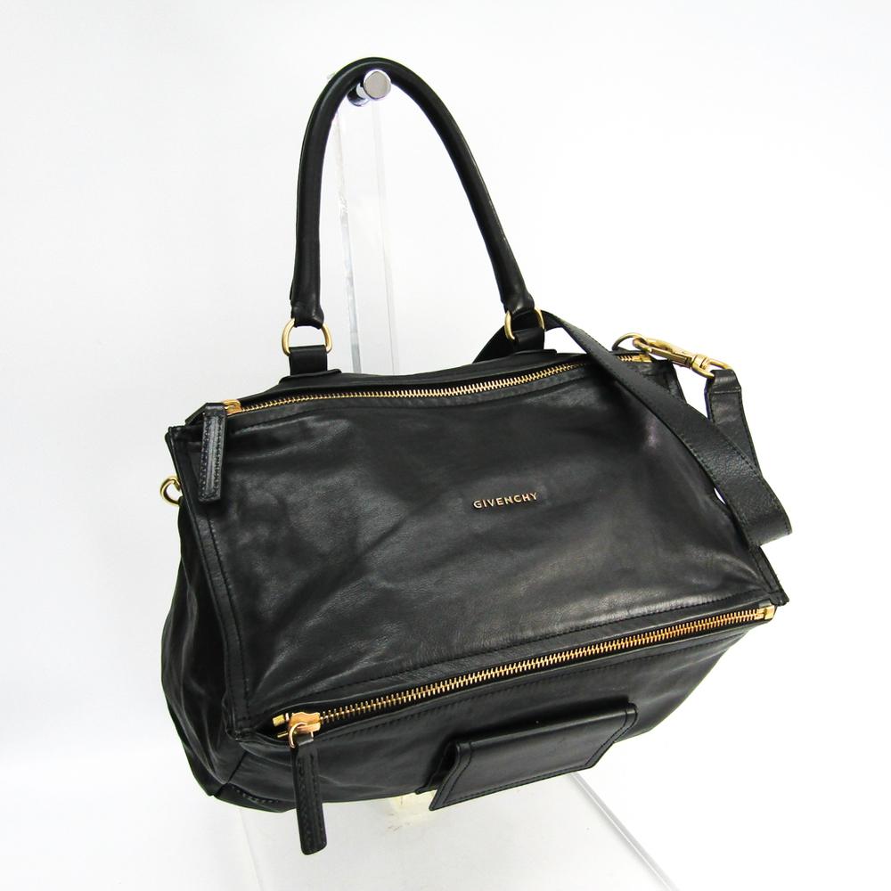 Givenchy Pandora Women's Leather Handbag,Shoulder Bag Black