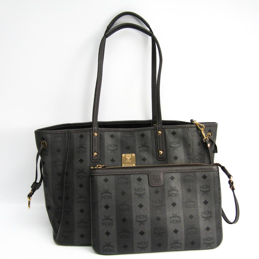 MCM Reversible Shopper Medium MWP4AVI40EG001 Women's Leather Tote Bag Gray