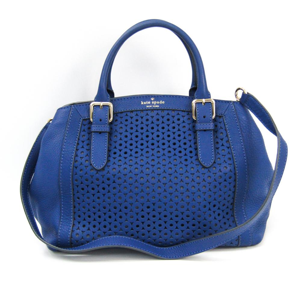 Kate Spade MERCER ISLE SLOAN PXRU4041 Women's Leather Handbag,Shoulder Bag Blue