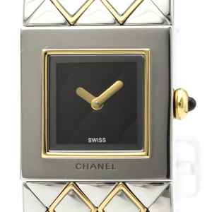 Chanel Matelasse Quartz Stainless Steel,Yellow Gold (18K) Women's Dress Watch H0475