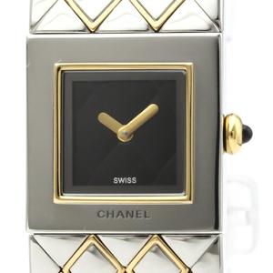 シャネル(Chanel) マトラッセ クォーツ ステンレススチール(SS),K18イエローゴールド(K18YG) レディース ドレスウォッチ H0475