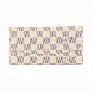 ルイヴィトン 二つ折り長財布 アズール ポルトフォイユ・エミリー N41625  ローズバレリーヌ