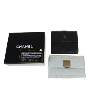 シャネル(Chanel) 2セット レザー 財布(二つ折り) ブラック,ブルー