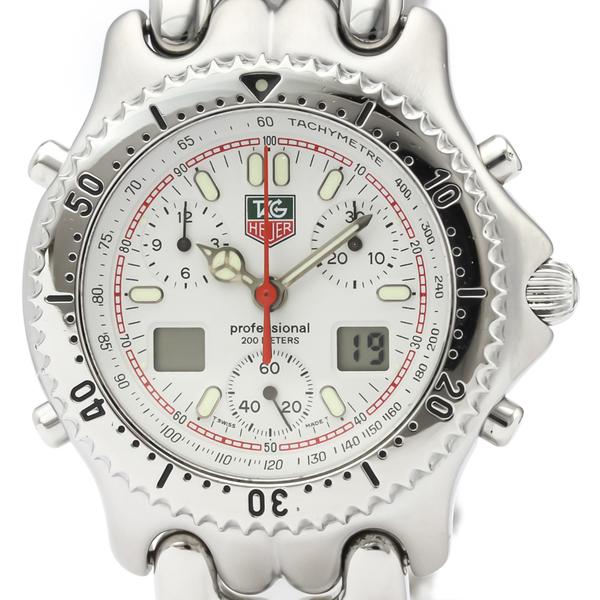 【TAG HEUER】タグホイヤー セル クロノグラフ 200M ステンレススチール クォーツ メンズ 時計 CG1111