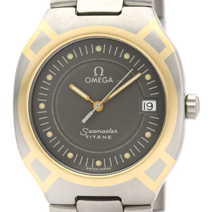 【OMEGA】オメガ シーマスター ポラリス K18 ゴールド チタン クォーツ メンズ 時計 396.1022