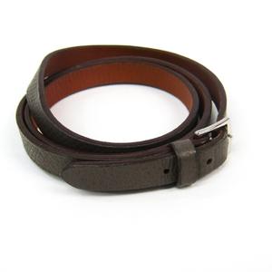 Hermes Long Bracelet Leather Bracelet Brown,Dark Gray