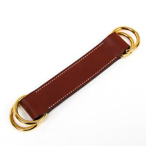 エルメス(Hermes) レザー スカーフリング ブラウン ロマンス スカーフベルト