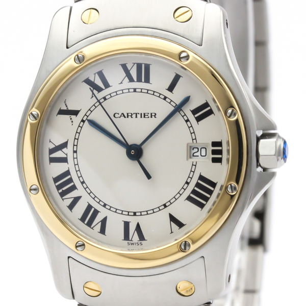 カルティエ(Cartier) サントス クーガー クォーツ ステンレススチール(SS),K18イエローゴールド(K18YG) レディース ドレスウォッチ
