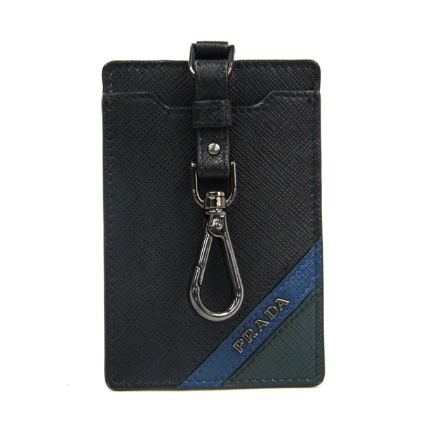 Prada Leather Accessory Black,Blue,Green Pass case ID case Name holder 2MC022