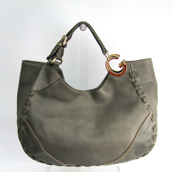 Gucci Charlotte 218782 Women's Leather Tote Bag Gray