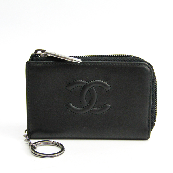 Chanel Cocomark L-shaped Fastener Key Coin Case A68885 Women's Leather Coin Purse/coin Case Black