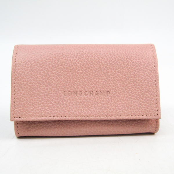 Longchamp Women's Leather Coin Purse/coin Case Light Pink