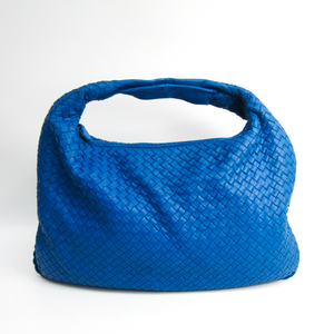 ボッテガ・ヴェネタ(Bottega Veneta) イントレチャート ホーボーM 115654 レザー ショルダーバッグ ブルー