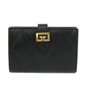 Givenchy GV3 Diamond Quilt BB601G Women's  Goatskin Wallet (bi-fold) Black