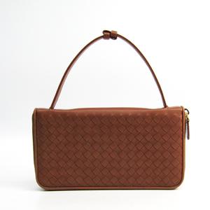 Bottega Veneta Intrecciato Travel Case 169730 Men's Leather Long Wallet (bi-fold) Brown
