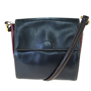 Loewe Leather Shoulder Bag Khaki