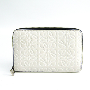Loewe Anagram Card Case Women's Leather Coin Purse/coin Case Black,White
