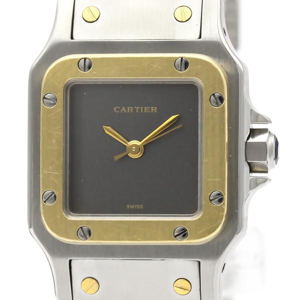 カルティエ(Cartier) サントス ガルベ 自動巻き ステンレススチール(SS),K18イエローゴールド(K18YG) レディース ドレスウォッチ