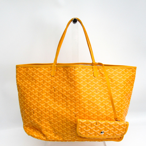 Goyard Saint Louis GM Women's Canvas,Leather Tote Bag Yellow