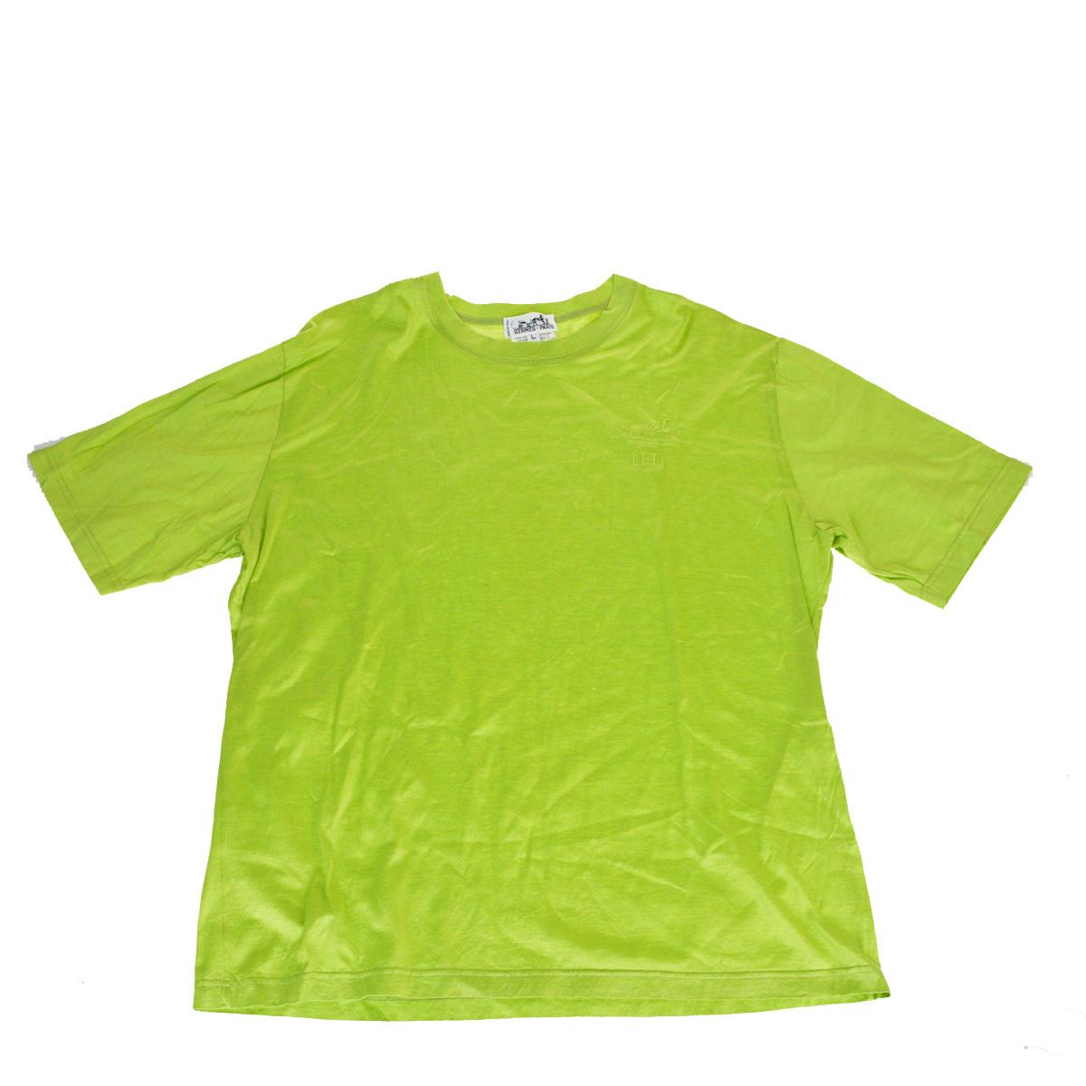 エルメス(Hermes) メンズ カジュアル Tシャツ (グリーン)