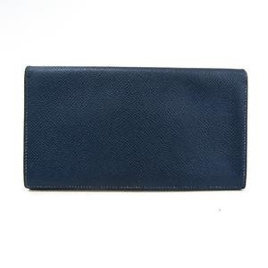Hermes MC2 Fleming Epsom Leather Long Bill Wallet (bi-fold) Navy