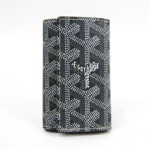 ゴヤール(Goyard) ヘリンボーン 6連 ユニセックス PVC レザー キーケース グレー,ホワイト