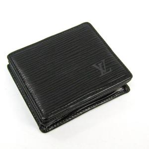 Louis Vuitton Epi Portomonet Bowt M63692 Unisex Epi Leather Wallet Noir