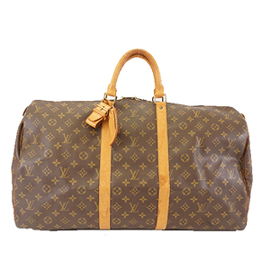 Auth Louis Vuitton Monogram M41424 Men,Women,Unisex Boston Bag Brown
