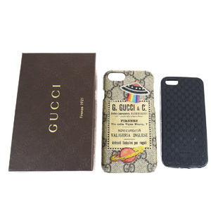 Gucci PVC Phone Case Brown 2-piece set GG pattern