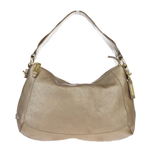 Cole Haan Leather Shoulder Bag Bronze