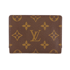 Auth Louis Vuitton Monogram Porto 2 Cult Vertical N60533 Monogram Travel Pass Case Brown