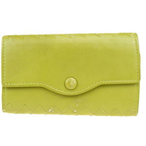Bottega Veneta Intrecciato Leather Key Case Green