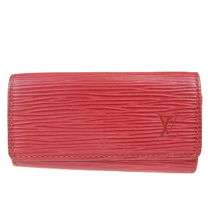 Louis Vuitton Epi Multicure 4 M63827 Epi Leather Key Case Red Color