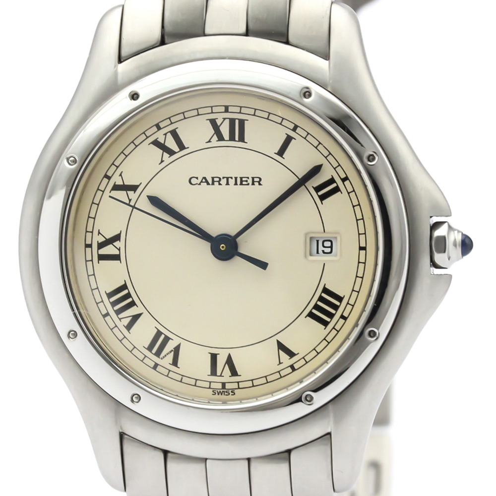 Cartier Panthere Cougar Quartz Stainless Steel Men's Dress Watch 987904