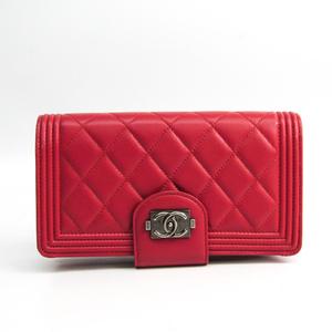シャネル(Chanel) ボーイ・シャネル A80286 レディース  ラムスキン 財布 ピンク
