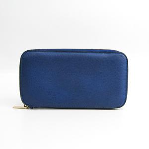 ヴァレクストラ(Valextra) ユニセックス レザー 長財布(二つ折り) ロイヤルブルー