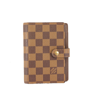 Auth Louis Vuitton Planner Cover Damier Canvas,Ebene Agenda PM R20700